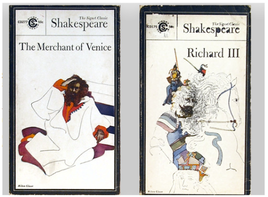 The Merchant of Venice and Richard III, covers by Milton Glaser