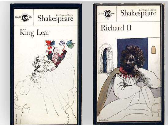 King Lear and Richard II covers by Milton Glaser