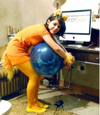 Firefox logo costume