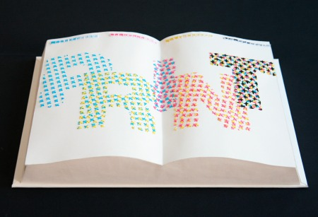 Print embroidery book
