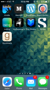 The reading section of my phone