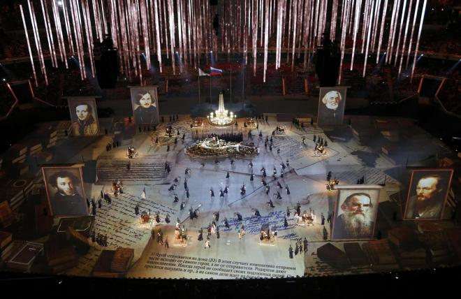Sochi Opening Ceremonies -  great Russian poets and writers