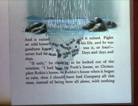 Winnie-the-Pooh words in the rain