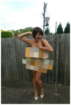Pixel and Pilcrow - Graphic Design Halloween Costumes - Pixelated 1