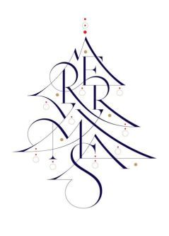 "Pixel and Pilcrow - Designing the Holidays - ""Wish you a merry Christmas!"" by Áron Jancsó"